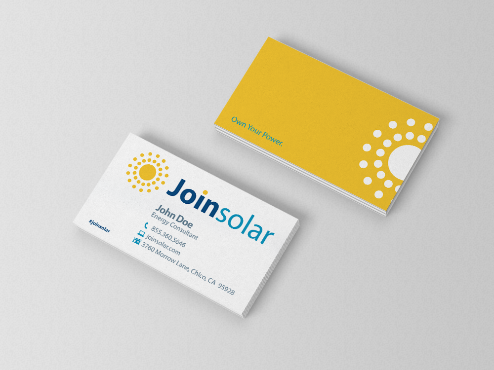 Solar Custom Business Card | Bedrock Markets