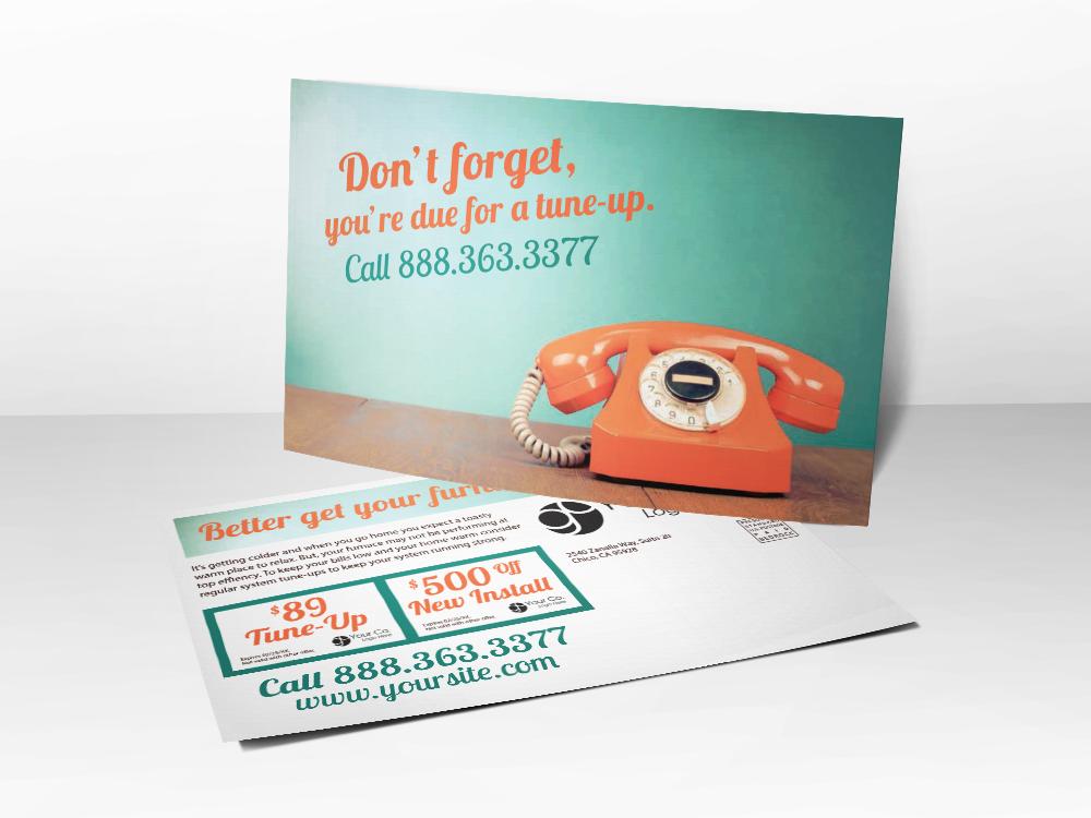 'Don't Forget' Service Reminder Postcard - Front & Back