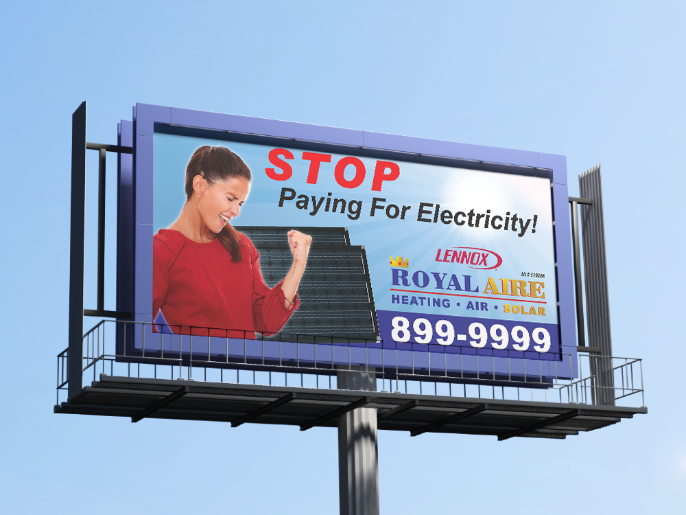 Royal Aire Billboard with Excited Lady