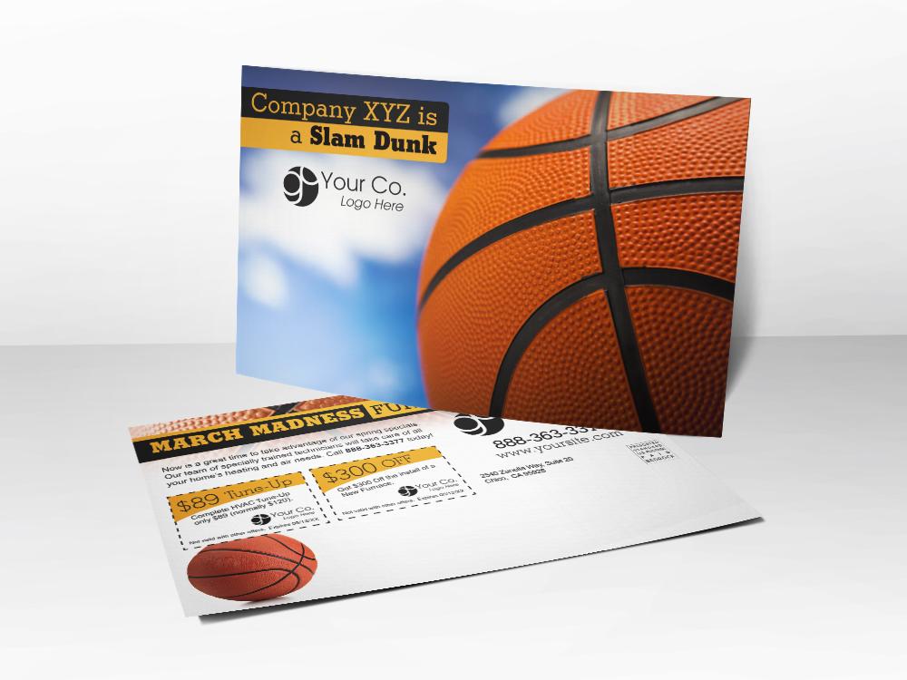 Basketball HVAC Postcard - Front & Back