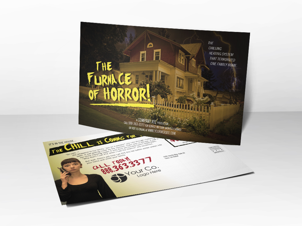 'The Chill Is Coming For You' Winter Furnace Postcard - Front & Back