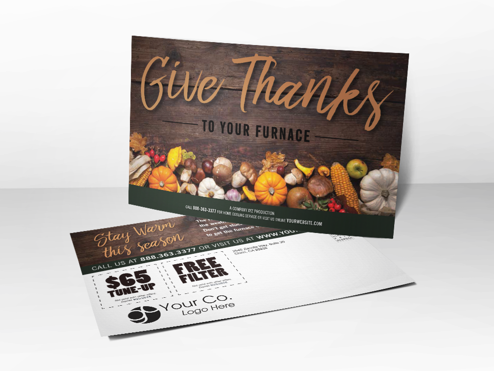 Give Thanks\' Fall Postcard Template | Bedrock Markets