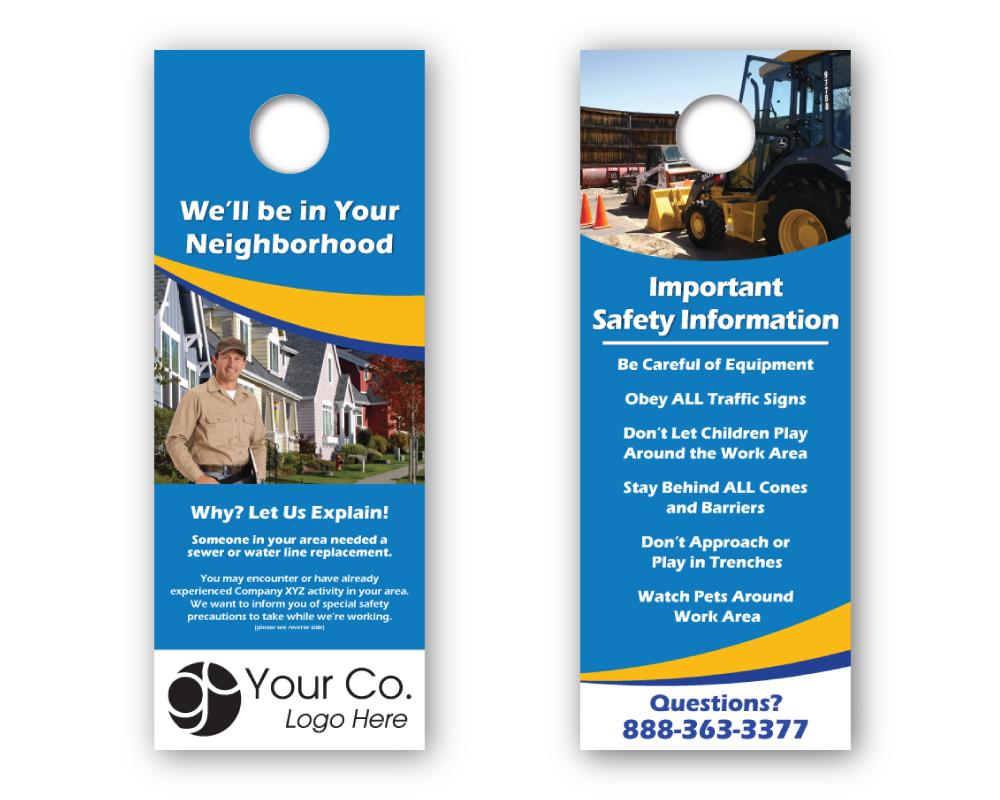 'In Your Neighborhood' HVAC Door Hanger