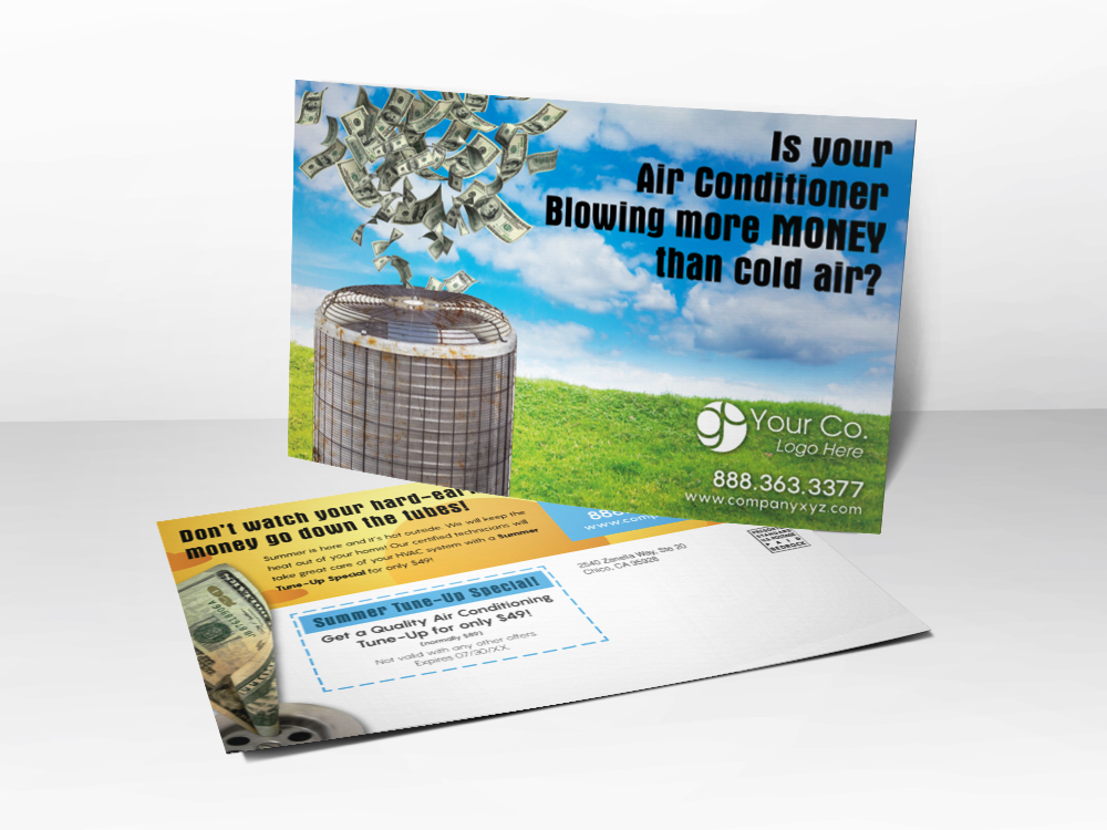 HVAC Marketing Summer Postcard