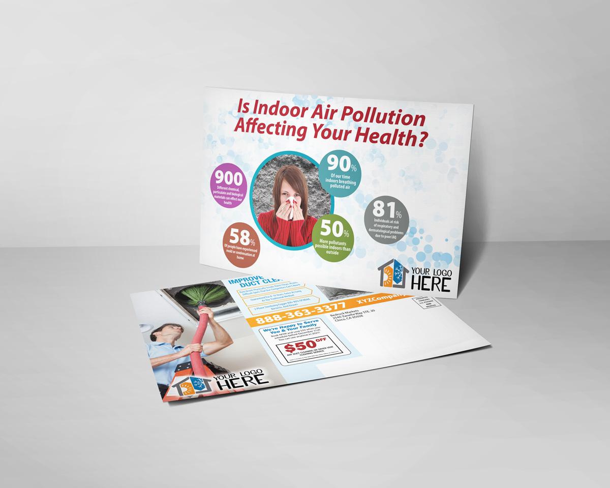 Indoor Air Pollution HVAC Postcard